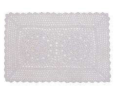 Lugar Americano Crochet Branco - 33X45cm