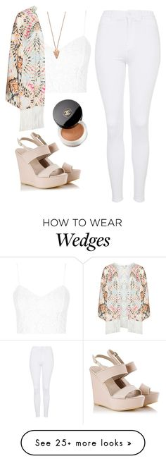 """""""Untitled #1323"""" by lovaticstyles on Polyvore featuring Topshop, Mat, Alberto Guardiani, Pamela Love and Chanel"""