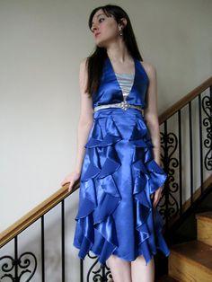 Halter Neck Party Dress Classy Modest Formal by StitchPrincess, $200.00