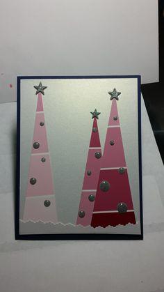 Christmas Arts And Crafts, Homemade Christmas Cards, Christmas Cards To Make, Xmas Cards, Diy Christmas Gifts, Homemade Cards, Paint Chip Cards, Paint Sample Cards, Xmas Greetings