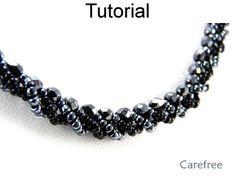 Carefree Beaded Necklace Digital Jewelry Beading Pattern Tutorial