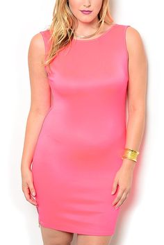 http://www.dhstyles.com/Hot-Pink-Plus-Size-Sexy-Fitted-Sleeveless-Paneled-p/flam-2575x-pink.htm