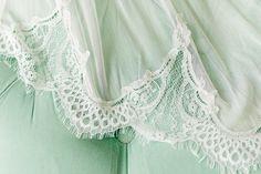 bride getting ready, wedding dress detail.  lace, olvi`s