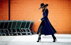 Gucci Blue Coat. Visit www.lifeandstyleonadime.com for Fall trends. Image stilletto bootlover_83