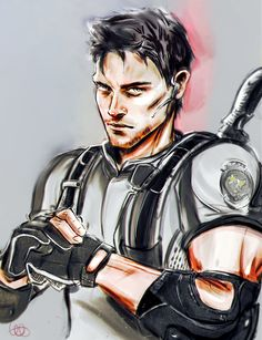 Chris Redfield by whispers-Dai.deviantart.com on @DeviantArt