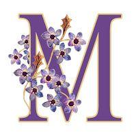 ArtbyJean - Paper Crafts: ábécé meg from set A02 - Purple Wood Roses Free ravasz előfizetői nyomatok.