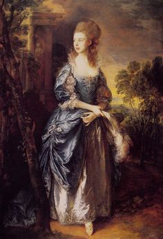 1777 The Honourable Frances Duncombe by Thomas Gainsborough (Frick Collection - New York City, New York USA) | Grand Ladies | gogm