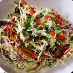 Very Healthy Coleslaw.no mayo! If you are looking for a ridiculously easy recipe for slaw, then look not further than this Vinegar Based Coleslaw. There are few ingredients in this recipe, with a great sweet and tangy vinegar based … Vinegar Based Coleslaw Recipe, Recipe For Coleslaw Dressing, Slaw Dressing Recipe Vinegar, Cole Slaw Vinegar Based, Oil And Vinegar Coleslaw, Healthy Foods, Puddings, Sauces, Southern Food