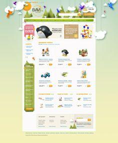 Ideas & Inspirations für Web Designs Toys'4'kids by Piotr Kazmierczak, via Behance Schweizer Webdesign http://www.swisswebwork.ch