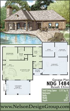 26 Garage And Pool House Plans Ideas Pool House Plans Pool House House Plans