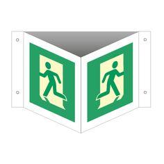 Nødutgang skilt - Kjøp etterlysende Vinkelskilt her Letter, Logos, Logo, Letters, Writing