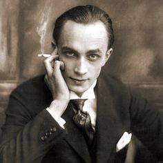 """A rare vintage press shot of character actor """"Conrad Veidt"""" of Thief Of Baghdad fame, circa 1920s! His most famous role was as Gestapo Maj. Strasser in the classic Casablanca (1942); although he was not the star of the picture, he was the highest paid actor. He died while playing golf, and on the death certificate his name is misspelled as """"Hanz Walter Conrad Veidt"""". Because he had been blacklisted in Nazi Germany, there was no official announcement there of his death."""