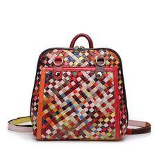 Mochila de cuero de multicolores de tejido para juveniles baratos [AL93035] - €57.16 : bzbolsos.com, comprar bolsos online