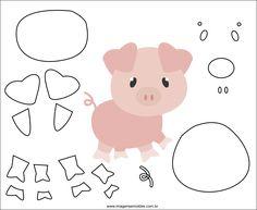 Kids Crafts, Farm Crafts, Animal Crafts For Kids, Art For Kids, Felt Animal Patterns, Stuffed Animal Patterns, Card In A Box, Animal Cutouts, Farm Animal Party