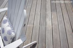 White washed decking stain