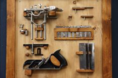 We figured these awesome pieces of woodworking tools deserved their own frame on our wall.   #handtools #rabbetplane #combinationplane #scraper #Stanley #no78 #record #no050  #artisanal #woodworking #woodwork #woodcraft #handcraft #craft #handmade #artisan #woodworker #furnituremaker #cabinetmaker #craftsman #craftsmanship #artisanship #furniture #oldschool #vintage #retro