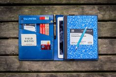 iPad Air & Extra Large Moleskine Cover-Blue - GalenLeather  - 1
