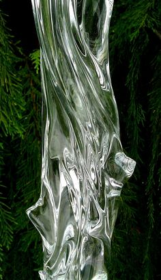 Clear Glass Icicle by GlassGardensNW on Etsy, $89.95