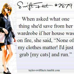 Gosh I love her! I would do the same thing! Though I probably have more cats to grab lol.