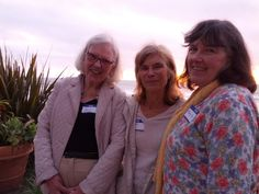 Barbara W. Sommer, Nancy MacKay, and Mary Kay Quinlan at the Thursday Welcome Reception
