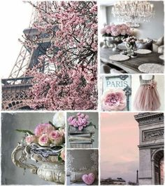 Pink & grey moodboard Paris by AT