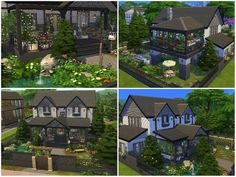 lotsbymanal's COUNTRYSIDE HOUSE Sims Community, Sims Resource, Sims House, Electronic Art, Cozy House, The Expanse, Sims 4, Countryside, Mansions