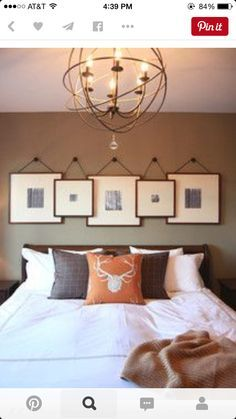 Creative way to hang picture frames