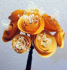 paper flower bouquet, but I might leave out the white poms