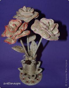 Поделка изделие Моделирование конструирование Цветы-цветочки Бисер Шпагат фото 5