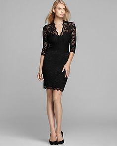 V Neck Scalloped Lace Dress - formal dress