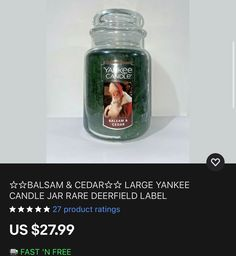 Untitled Big Candles, Candles For Sale, Prices Candles, Yankee Candle Jars, Candle Store, Scented Candles, Drink Bottles, Summer Food, Fall Food