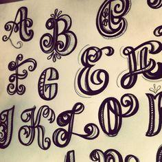Pinner said: Caps in progress lettering   letteringdaily