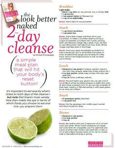 2 day #cleanse plan to look better naked { #detox #flush out #toxins }