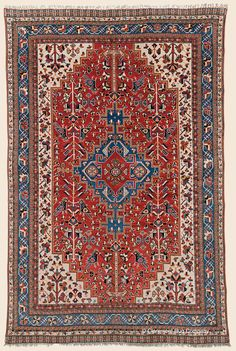 "QASHQAI, Southwest Persian Antique Rug 5' 0"" x 7' 7"" — Circa 1900- Claremont Rug Company. Click to learn more about this rug."