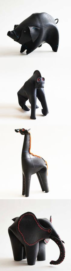 recycled animal toys