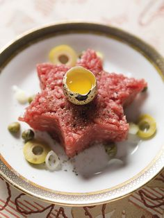Étoiles de steak tartare