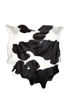 Large Black and White Cowhide. 89 x 93.
