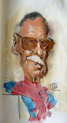 Stan Lee sketch.Thank you for all these characters.  E. Pitarch © 2015. All rights reserved.