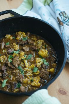 This Keto Curried Beef is the perfect Asian take-out replacement filled with spices, thick curry, and hearty meat!