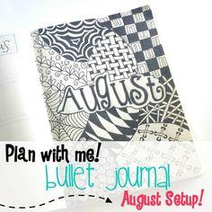 Bullet Journal August setup!