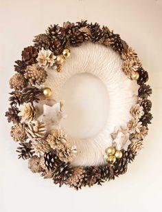 Winter Kranz Kranz White Christmas Kiefer Kegel von florasense