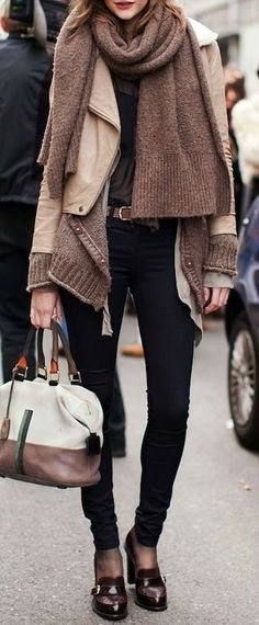 33 Trendy Street Style Winter Outfits - Love these shoes! Fashion Moda, Look Fashion, Fashion Outfits, Street Fashion, Street Chic, Fashion Clothes, Fashion Fashion, Latest Fashion, Fashion Shoes
