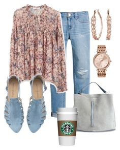 """Another Morning, Starbuck's & My Art Studio"" by naviaux ❤ liked on Polyvore featuring White House Black Market, MANGO, Maison Margiela, GUESS, Michael Kors, women's clothing, women, female, woman and misses"
