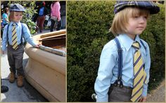 How to steal the scene. Little boy style. Shirt: American exchange, Pants and Suspenders: HM, Tie: Dockers