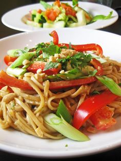 Peanut Udon Noodles - I've made this lots of times. So nummy! Add some chicken for extra protein.