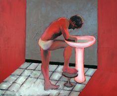 Original People Painting by Pawel Kwiatkowski Saatchi Online, Artist Painting, Saatchi Art, Original Paintings, Contemporary, The Originals, Corps Humains, Interiors, Models