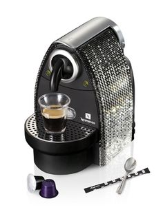 """Crystal Couture """"fashion"""" espresso Machine. Yes please!!"""