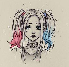 Harley Quinn from natalico on DeviantArt - . - Harley Quinn by natalico on DeviantArt – Girly Drawings, Art Drawings Sketches Simple, Pencil Art Drawings, Cartoon Drawings, Princess Drawings, Anime Girl Drawings, Amazing Drawings, Colorful Drawings, Drawing Ideas