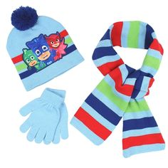 a381a7f8daa4a Stay warm and cozy in this PJ Masks 3 piece hat