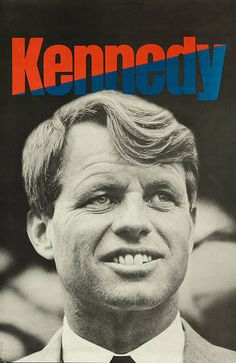 Large 1968 Robert Kennedy Headquarters Campaign Poster